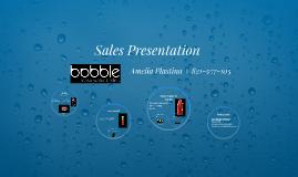 Sales Presentation- Marketing 311- Bobble