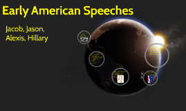 Early American Speeches