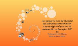 Las minas de ocre de la sierra del Sabinar: aproximación arq