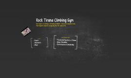 Climbing gym business plan
