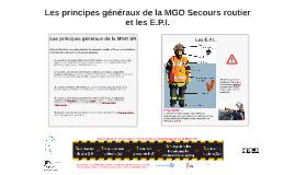 Les principes généraux de la MGO Secours routier