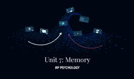 Unit 7a: Memory