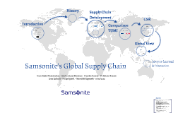 samsonite global supply chain management Global supply chain management supply chain professionals need to see the big picture and understand how money, people, information, processes, product, and technology interact.