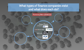 What types of finance companies exist