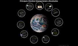 Principais Cimeiras Ambientais