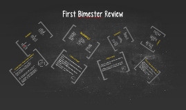 First Bimester Review