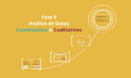 Paso 9: Análisis de datos cualitativos & cuantitativos