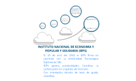 RESUMEN DEL INSTITUTO NACIONAL DE ECONOMIA POPULAR Y SOLIDARIA