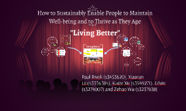 How to Sustainably Enable People to Maintain Well-being and