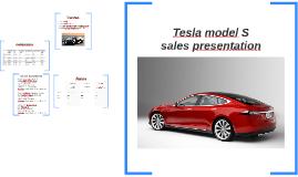 Tesla model S sales presetation