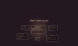 Islam- sunni og sjia