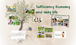 sufficiency economy and daily life