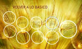 VOLVER A LO BASICO
