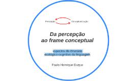 Da percepção ao frame conceptual