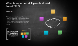 What is important skill people should