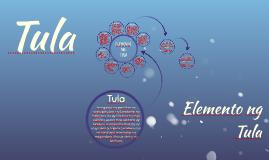 Tula at Elemento ng Tula
