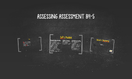 ASSESSING ASSESSMENT