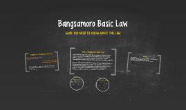 Bangsamoro Basic Law