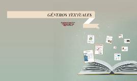 GENEROS TEXTUALES