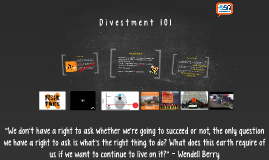 Divestment 101