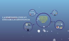 Copy of LA DIMENSION CIVICA Y ETICA DE LA CONVIVENCIA