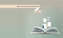 Modern American Literature Final Project