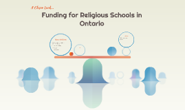 Equal Funding for Religious Schools in Ontario