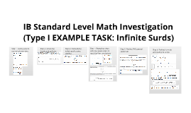 IB Type I Math Investigation SAMPLE