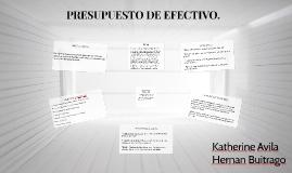 PRESUPUESTO DE EFECTIVO.
