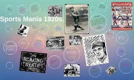 Sports Mania 1920s.
