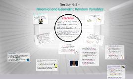 6.3 Binomial and Geometric Random Variables