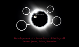 Development of a Sales Force