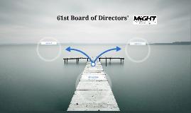 61st Board of Directors'