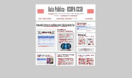 Aula Pública - OCUPA CCSH