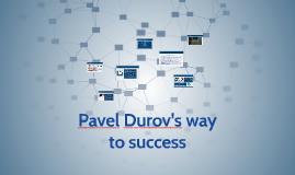 Pavel Durov's way