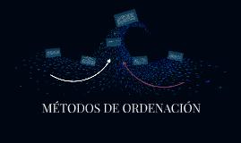 METODOS DE ORDENACIÓN