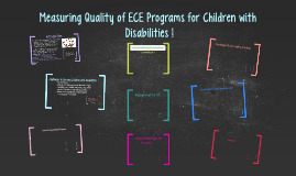 Measuring Quality of ECE Programs for Children with Disabili