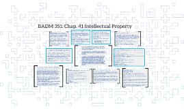 BADM 351: Chap. 41 Intellectual Property