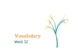 Vocab Week 11