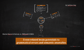 Event-related brain potentials to grammatical errors and sem