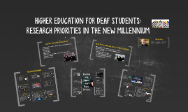 HIGHER EDUCATION FOR DEAF STUDENTS: RESEARCH PRIORITIES IN T