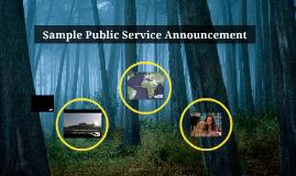 Sample Public Service Announcement