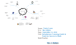 Introductory Learning Guide & Tools for Sucess in Math