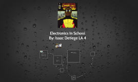 Electronics In School