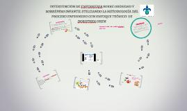 Copy of INTERVENCIÓN DE ENFERMERIA SOBRE OBESIDAD Y SOBREPESO INFANT