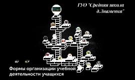 Формы организации учебной деятельности учащихся