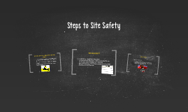 Steps to Site Safety