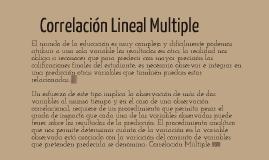 Correlación Lineal Múltiple
