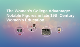The Women's College Advantage: Notable Figures in late 19th