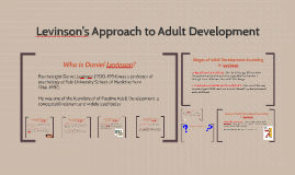 Copy of Levinson's Approach to Adult Development